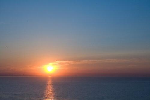 Рассвет над морем в Одессе